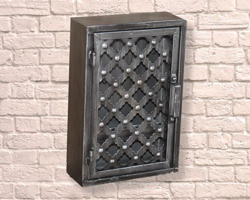 Industrial Small Ornate Pattern Wall Cabinet